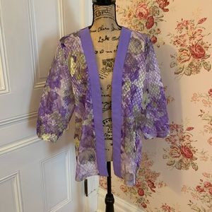 🌵 Floral Purple Duster Top